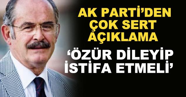 """AK Parti'den çok sert Büyükerşen açıklaması! """"Bu sorulara cevap vermeli"""""""